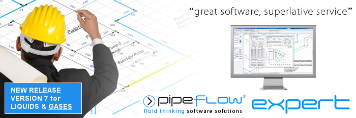 Pipe Flow Expert Software for flow rate and pressure drop calculations